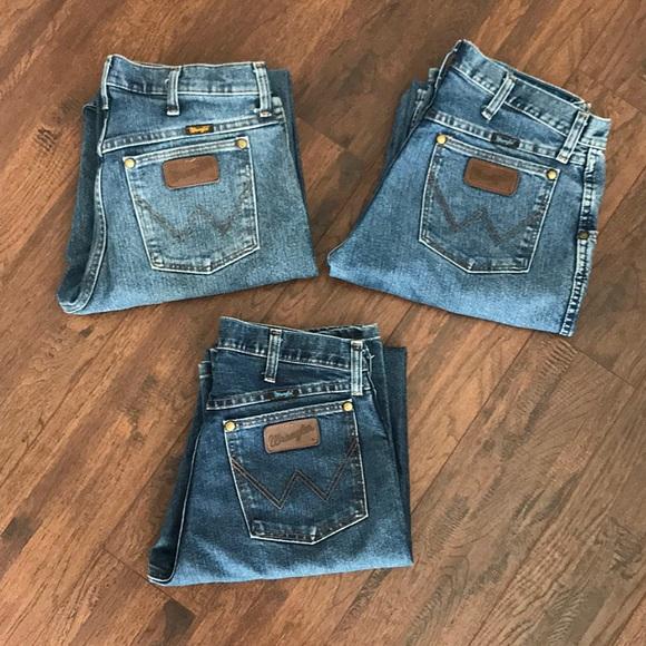 0363911d Men's Wranglers Regular Fit Jeans Size:30X32. M_5b468b0e04e33df11183bd10